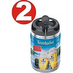 2 x Krombacher Pils barriles frescas, 5 litros de 4,8% vol