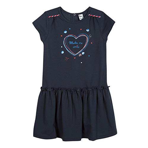 3 pommes Baby-Mädchen Kleid 3n30002 04 Dress Blau (Marine Blue, 18-24 Monate (Herstellergröße: 18/2A) (Baby Marine Dress Blues)