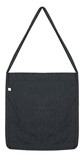 Salvage - Umhängetasche 'Sling Tote Bag' - 100% Recycled / Melange Black, 36 x 40 x 4 cm (Fashion Black Tote Bag)