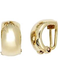 Bijoux femmes paire de boucles d'oreilles clip sur 333 or jaune Hauteur environ 14,1 mm de largeur environ 7,8 mm