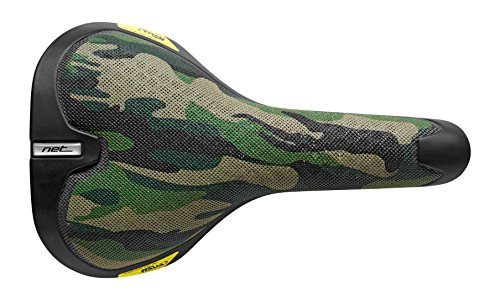 Selle Italia Net Bike Sattel, Unisex, Net Bike, Green/Brown/Black