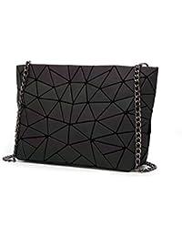 04902f2230d11 Geometrie-gesteppte Ketten-Schulter-Taschen der Frauen Laser-einfache  faltende Handtaschen