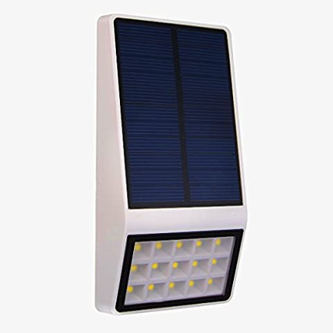 Solarleuchten - 15LED Solar Wandleuchte Mikrowelle Motion Sensor 3-in-1 Wasserdichte Sicherheitsleuchten - Solar Lampe Outdoor Wandleuchten für Garten, Zaun, Patio, Deck, Hof, Gehweg, Auffahrt, Treppen
