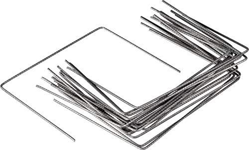 agrafes métalliques pour fixation au sol de film ou toile de paillage - Ø4 mm - h20 x 25 cm - lot de 100