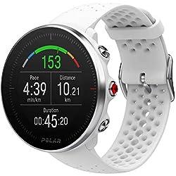 Polar Vantage M -Reloj con GPS y Frecuencia Cardíaca - Multideporte y programas de running - Resistente al agua, ligero - Blanco Talla M/L