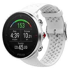 Idea Regalo - Polar Vantage M, Sportwatch per Allenamenti Multisport, Corsa e Nuoto, Impermeabile con GPS e Cardiofrequenzimetro Integrato, Unisex - Adulto, Bianco, M/L