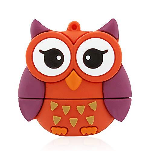 Easyplay - chiavetta usb 2.0 da 32 gb, a forma di maialino arancione owl