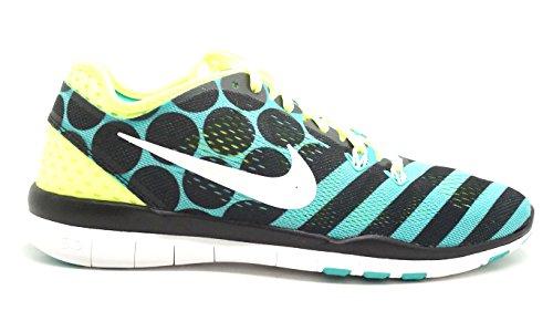 Nike Free 5.0 Wmns TR Fit 5 PRT Zapatos Deportivos Negro Verde Tejido 704695