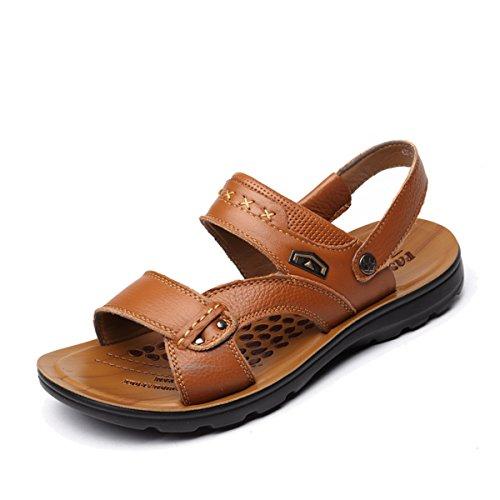 Herren Sandalen Modische Sandaletten Gummi-Außensohle Antirutsch Offene Zehen Bequeme Sommer Pantoletten Khaki