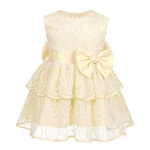 ab2ab3ff3 TiaoBug Vestido de Fiesta Bebé Elegante Vestido Encaje Bordado sin ...
