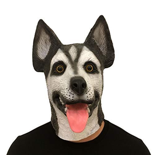 Masken für Erwachsene, Tier-Kopfbedeckung, Maske, Requisiten, Latexmaske, lustige Maske, Fasching, Ballmaske, Latex, Schwarz, Free Size
