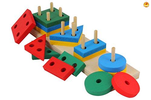 Baybee Wooden Geometric Shape Sorter Puzzle