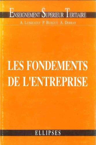 Les fondements de l'entreprise : Economie des entreprises