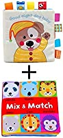 Soft Baby Cloth Book Baby Toddle Tail Book Touch Activity Crinkle Book Early (2 books)