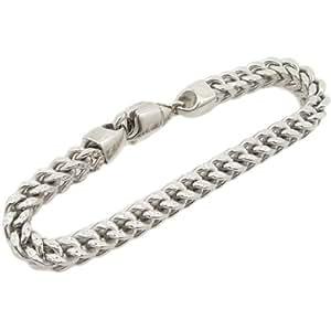 10K-gold-chain-bracelets Agmbrp43 Bracelet en Or jaune 10K Pour Homme Tendance Or Taille Diamant Design maille marine21,6cm de long et 7mm de large