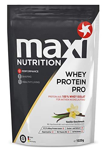 MaxiNutrition Whey Protein Pro Vanille - Eiweißpulver für den Muskelaufbau nach dem Training - 1 x 1020 g Packung Protein Shake mit Vanille Geschmack