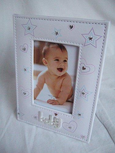 """Preisvergleich Produktbild """"Baby"""" weiß Love Herz gemustert 15,2x 10,2cm (15x 10cm) Foto Rahmen"""