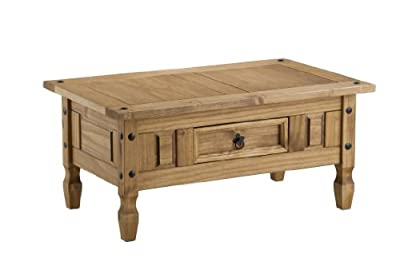 Birlea Corona 1-Drawer Coffee Table, Waxed Pine