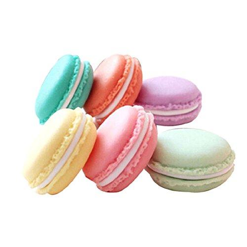 Preisvergleich Produktbild Sannysis 6 PCS mini nette Macarons Tasche Aufbewahrungsbehälter-Kasten Tragetasche