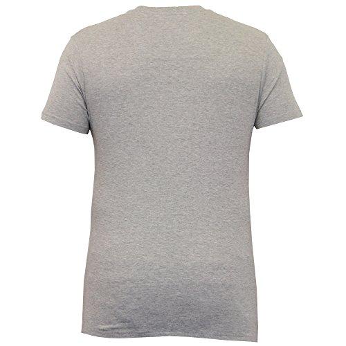 Herren T-shirt Threadbare Kurzärmelig Einfarbiges Top Rundhals Freizeit Sommer Neu Grau - MMW056PKA
