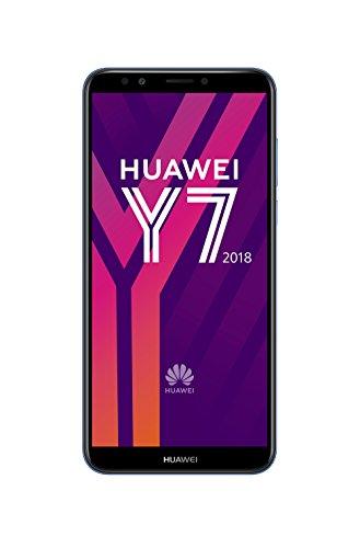 Huawei Y7 2018 Smartphone Débloqué 4G (Ecran: 5, 9 pouces - 16 Go - Double Nano-SIM + Port MicroSD - Android) Bleu