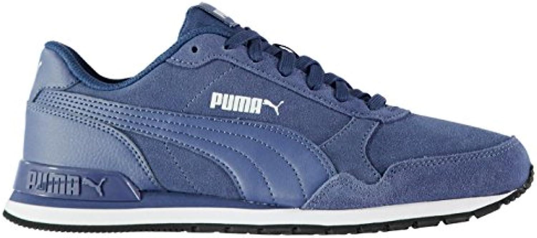 Puma ST Runner Sneaker aus Wildleder Herren blau ATHLETIC Sneakers Schuhe