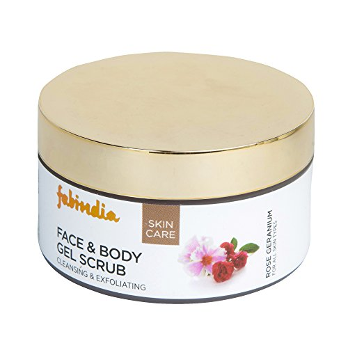 Fabindia Rose Geranium Face and Body Gel Scrub, 100ml