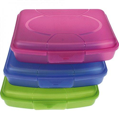 HAC24 3er Set Brotdose Brotbüchse Butterbrotdose   Brotzeitbox Lunchbox Vesperdose Kinder