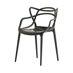 kartell 586509 chaise masters noir cuisine maison. Black Bedroom Furniture Sets. Home Design Ideas