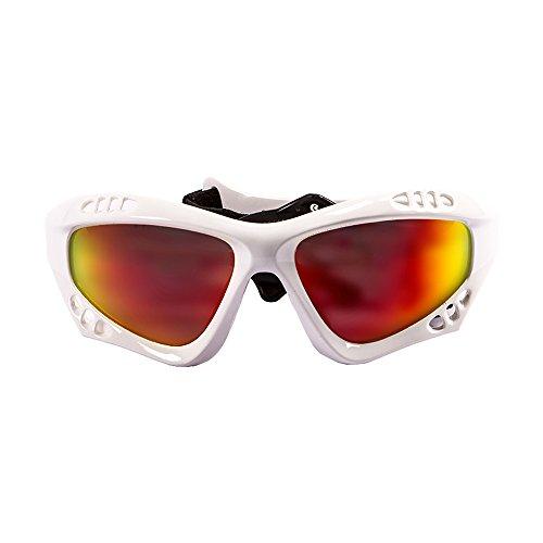 OCEAN SUNGLASSES - Australia - lunettes de soleil polarisÃBlackrolles  - Monture : Blanc LaquÃBlackroll - Verres : Revo Jaune (11701.3)