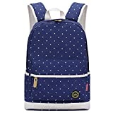 S-ZONE 15.6 Inch Laptop Pc Lightweight Casual Polka Dot Travel Student School Canvas