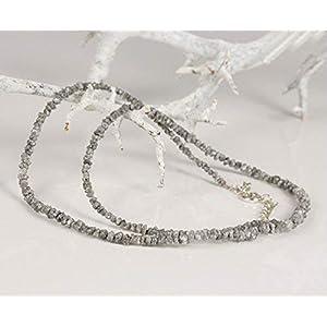 Diamanten Collier hochwertige Goldschmiedearbeit aus schwarzen Rohdiamanten - ungeschliffen Natur pur