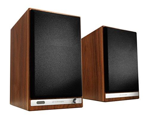 Audioengine HD6Premium Lautsprecher (verkabelt, integrierbar, A/B, 2-Wege, Powered speakerss-Set 50-22000Hz, 300x 185x 250mm) Braun und schwarz