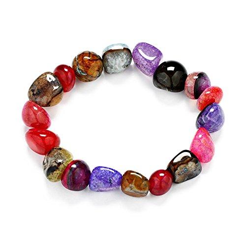 Stillshine - Chakra Yoga Balancing Runde Stein Perlen Elastische Natürliche Perle Kette, Charm Herren Frauen Geschenkbox(Stil 9)
