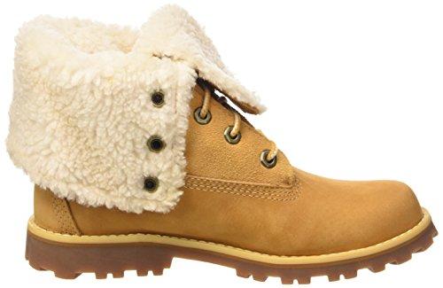 Timberland 6 In WP Shearling Boot, Stivaletti, Unisex - bambino Beige (Wheat)