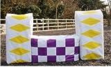 """Jumpstack cubre–Convierte heno, paja y fardos de cama en asequible saltos/de regalo–2diseños por color (Elija de una gama de colores) también come en paquetes de 2unidades–60x 23x 15"""", Cian"""