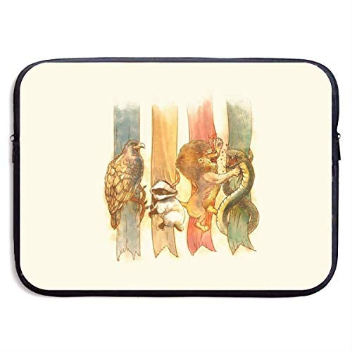 Otter-laptop-tasche (Eagle Otter Lion Snake 13-15 Zoll Laptop Schutzhülle Tasche Tragbar Doppelreißverschluss Hülle Tasche Halter Tablet Tasche, Wasserdicht, Schwarz, 15 Zoll)