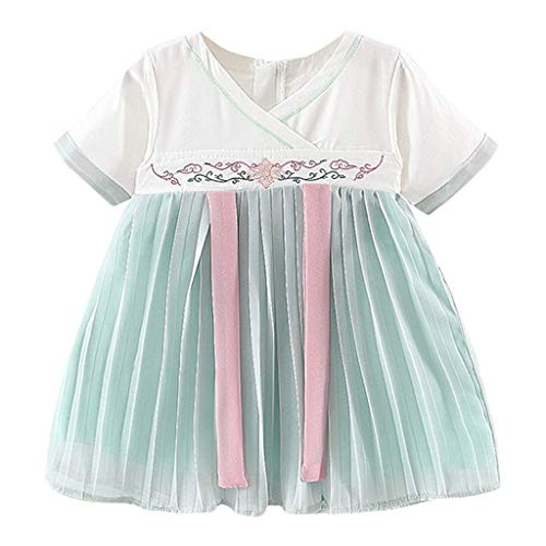 KIMODO Baby Mädchen Gesticktes Kostüm Antike Han chinesische Kleid Partykleid Urlaub Kleinkind Prinzessin Tüllkleid