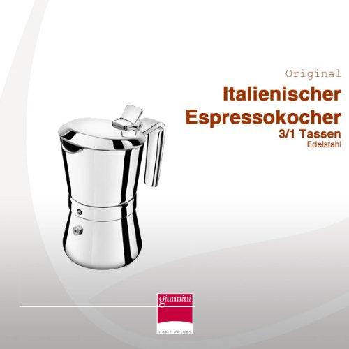 Giannini 3/1 Tassen Espressokocher, Induktion, Restyling