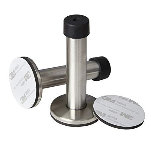2 Stück Türstopper selbstklebend - Türstopper - schützt Möbel & Wände vor zuschlagenden Türen, kein Schrauben, Türstopper aus Edelstahl, mit Schalldämpfung, für alle Türen