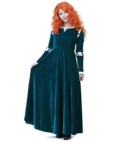 Miccostumes Damen Merida Adult Cosplay Darkgrün Women M