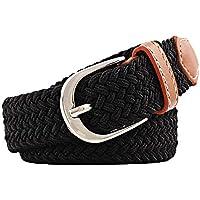 Desconocido JIER Liquidación Cinturón Trenzado de Lona elástica Femenina - Cinturones Elásticos Tejidos de Mujer para Jeans