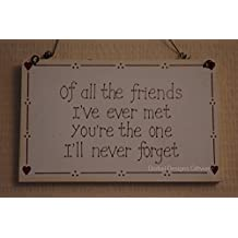 Shabby Chic Friends Plaque - Gift for a Special Friend