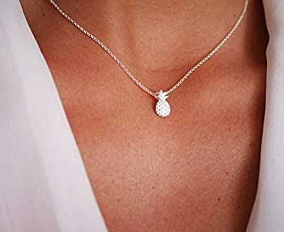 Collier Ananas argent 925 - bijoux ananas - chaîne argent - collier ananas - bijoux été - collier empilable - pendentif ananas - collier fin