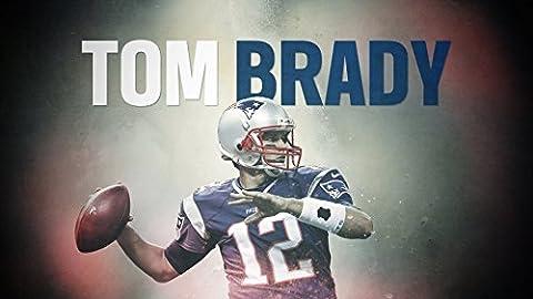 NFL Football Foto-Leinwand Leinwanddruck Bild Poster 60x40cm - New England Patriots Tom Brady #12