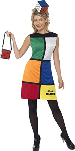 Rubik's Cube Costume for Women with Bag and Hat - Sizes 8 to 18