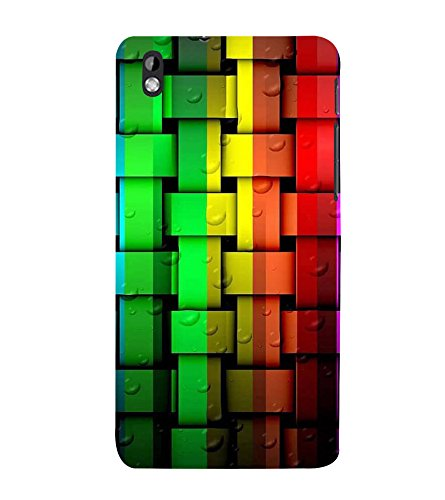 Multi Colour Weave Pattern 3D Hard Polycarbonate Designer Back Case Cover for HTC Desire 816 :: HTC Desire 816 Dual Sim :: HTC Desire 816G Dual Sim