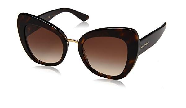 Dolce & Gabbana Damen Sonnenbrille 0DG4319 502/13, Braun (Havana/Browngradient), 51