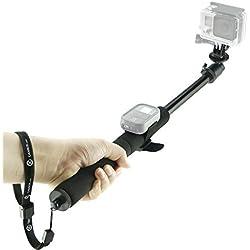 Asta per GoPro Camkix - Asta Telescopica regolabile con cinghie per telecomando Wifi - Si estende da 35 a 102 cm - Compatibile con GoPro Hero Fusion, 6, 5, 4, 3+, 3, 2, 1 e altre telecamere