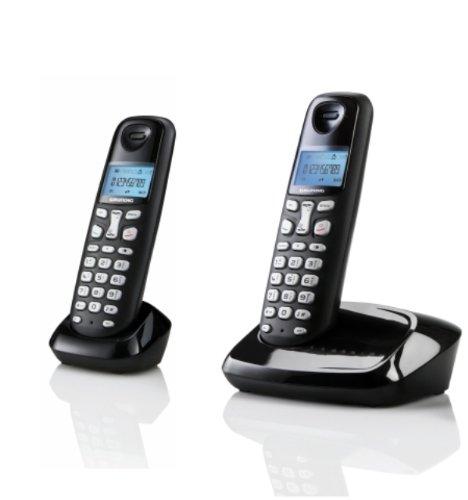 SAGEMCOM D160 DUO - Teléfono fijo inalámbrico sin contestador